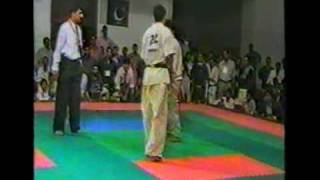 Pakistan Kyokushin (Shin)8th Asian Karate Tournament  in Lahore Jahan zaib Vs Khushal Part 2