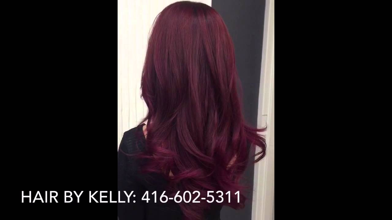 Fall red purple pink long layered hair colour and cut youtube urmus Images