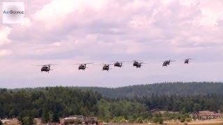 National Guard UH-60 Blackhawks Formation Flight over Seattle