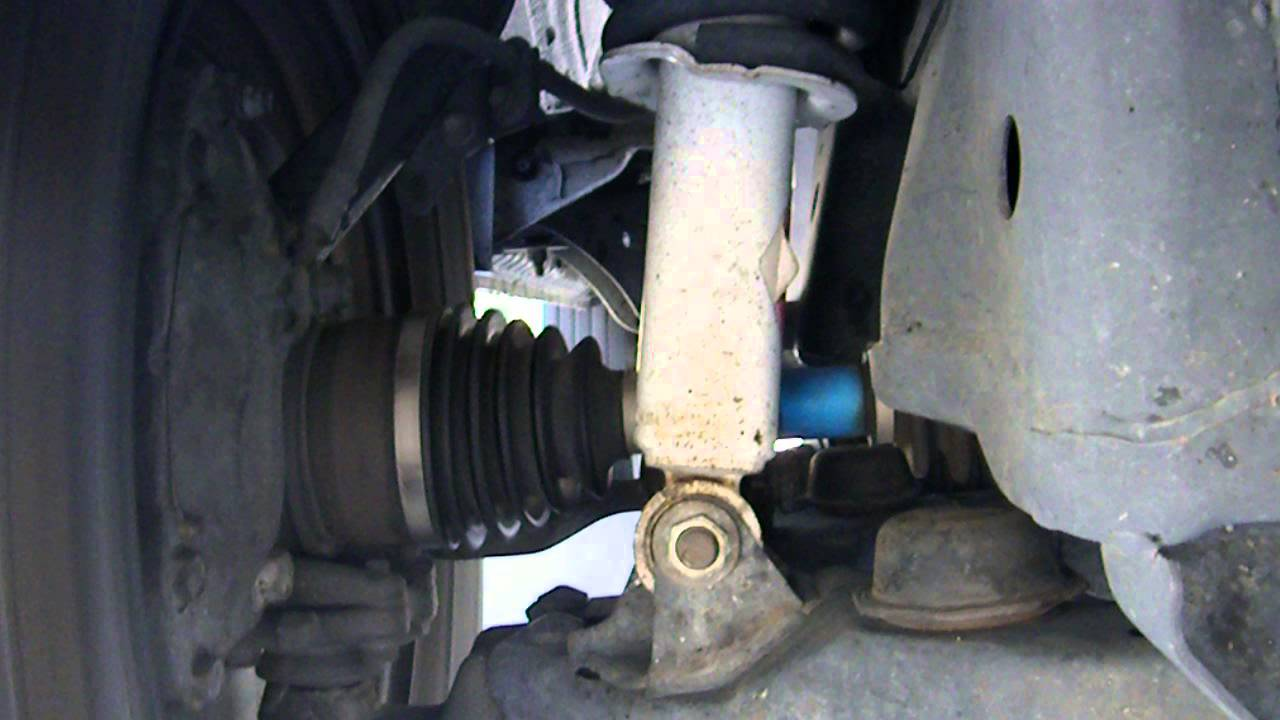 Toyota Tacoma right front axle dragging - YouTube