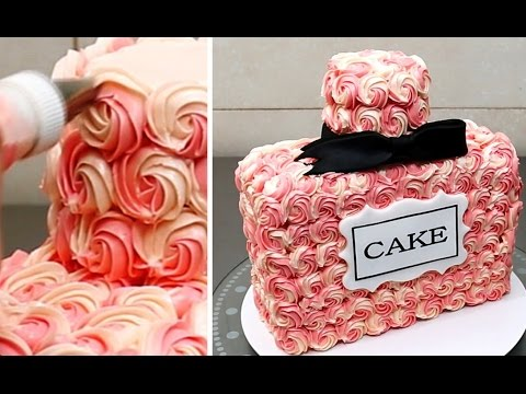 Perfume Bottle Cake - Buttercream Decorating Idea by ...