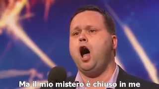 Paul Potts sings Nessun Dorma (Italian subtitle)