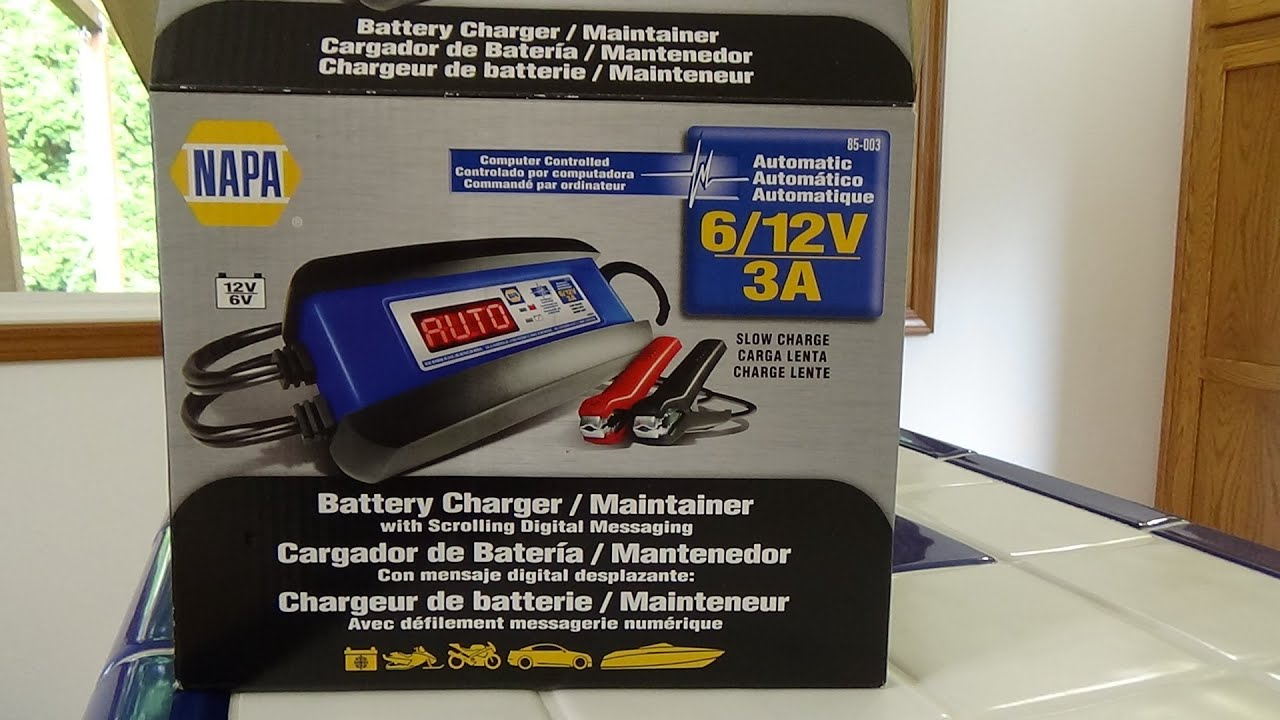 NAPA battery charger and maintainer part 2 on