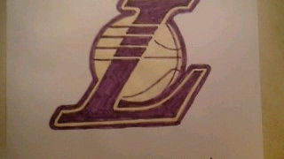 "How To Draw  Los Angeles Lakers "" L "" Logo Sign Symbol Emblem Easy Step By Tutorial"