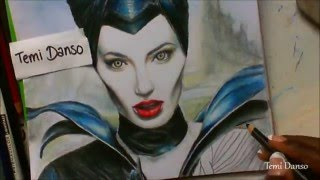 Maleficent Drawing by @Temi_Danso