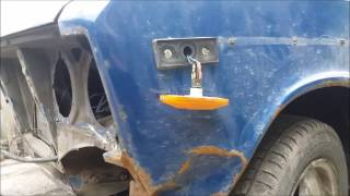 замена переднего крыла ваз 2103-2106 способ № 1( кузовной  ремонт жигулей 1973г)