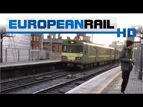 Iarnród Éireann Irish Rail DART 8100 EMU 8111+ 8131 + 8102 departs Connolly with announcement