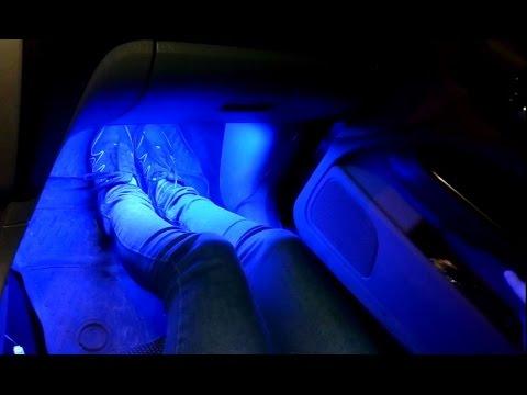 Подсветка ног в салоне своими руками