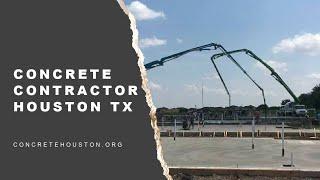 Concrete Contractor Houston Tx