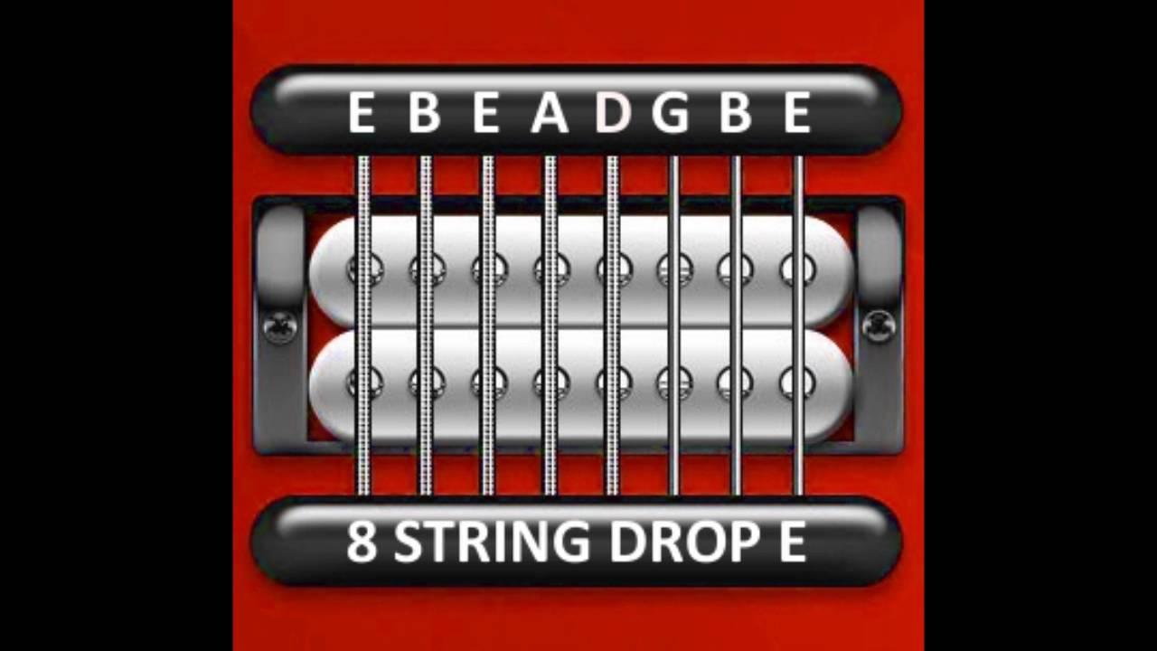 perfect guitar tuner 8 string drop e e b e a d g b e youtube. Black Bedroom Furniture Sets. Home Design Ideas