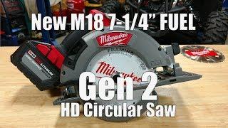 New GEN 2 Milwaukee M18 Fuel 7-1/4