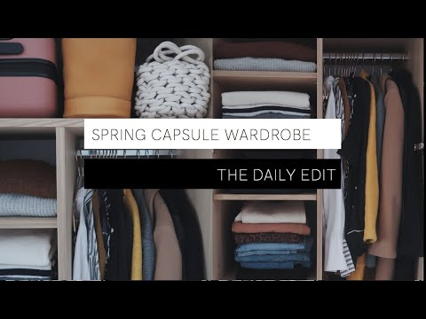 Making My Spring Capsule Wardrobe | THE DAILY EDIT | The Anna Edit