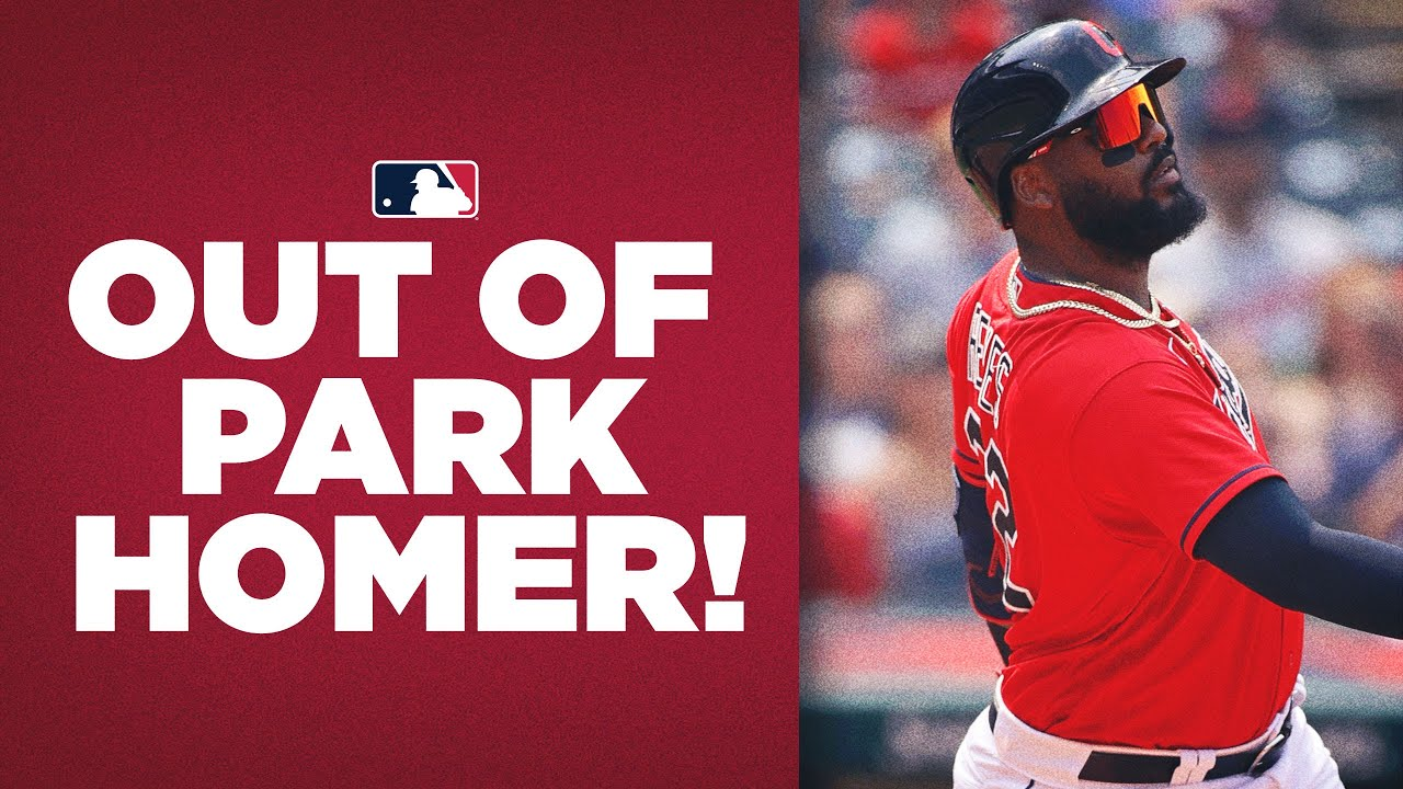 Download OUT OF THE STADIUM! Franmil Reyes launches INSANE homer out of Indian's park!