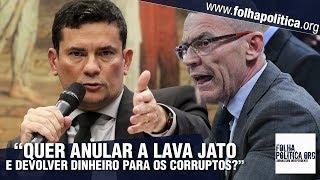 Senador dá a entender que a Lava Jato pode ser anulada e Sergio Moro retruca de forma contundente thumbnail