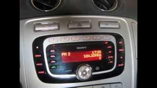 Ford Mondeo 4 Налаштувати дату та час у магнітоли SONY # 1