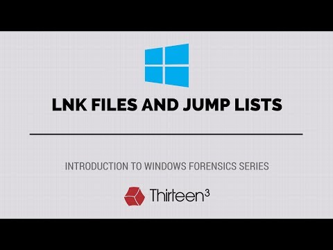 LNK Files and Jump Lists