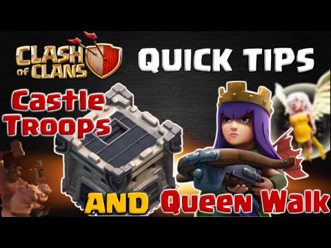 Lure Clan Castle Troops During Queen Walk - CoC Quick Tips #1 | Clash Of Clans
