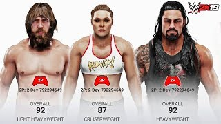 WWE 2K19 ALL SUPERSTAR OVERALLS & RENDERS! (Including Managers & Pre-Order DLC!)