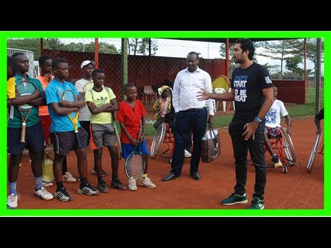 Qureshi inspires on 'stop war start tennis' tour in africa | atp world tour | tennis