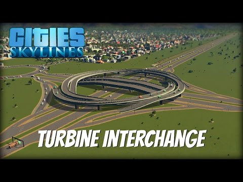 Cities Skylines Gameplay- Ep 7- Turbine Interchange & Cleaning the Water