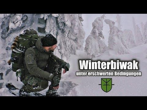 Schneebiwak unter erschwerten Bedingungen / Survival in Eis und Schnee