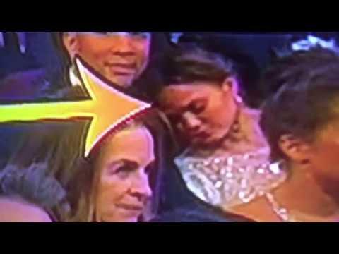Chrissy Teigen Falls Asleep On John Legend At The Oscars #Oscars