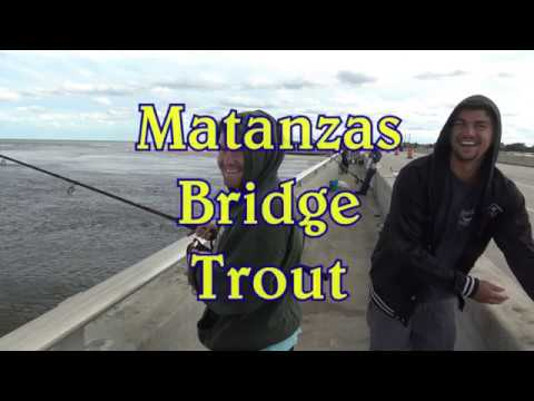 Fishing For Trout On The Matanzas, Florida Inlet Bridge