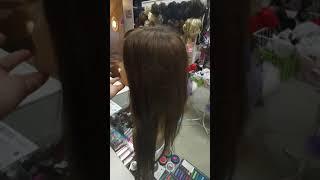Система замещения волос на полной сеточке натуральныхэй волос 60см