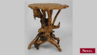 Antique Rustic Adirondack Style (20th Cent) Root Side Table