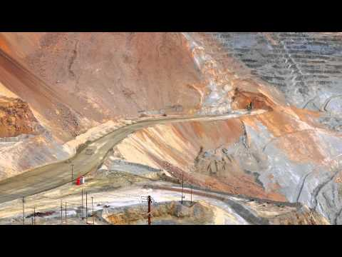 Rio Tinto Kennecott mine access road construction time lapse
