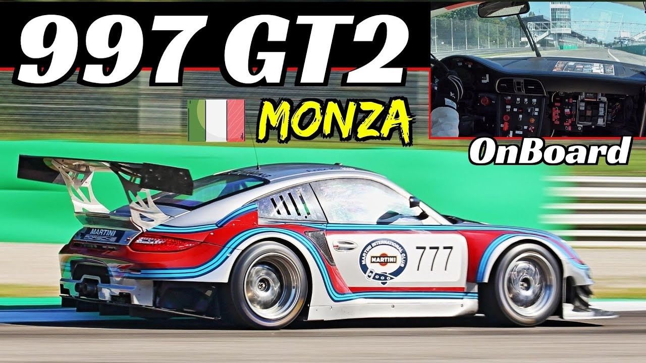 Porsche 997 GT2 Turbo RSR WideBody 💥EPIC Turbo Whistle & Blow Off Valve Sound, Onboard Monza Circuit
