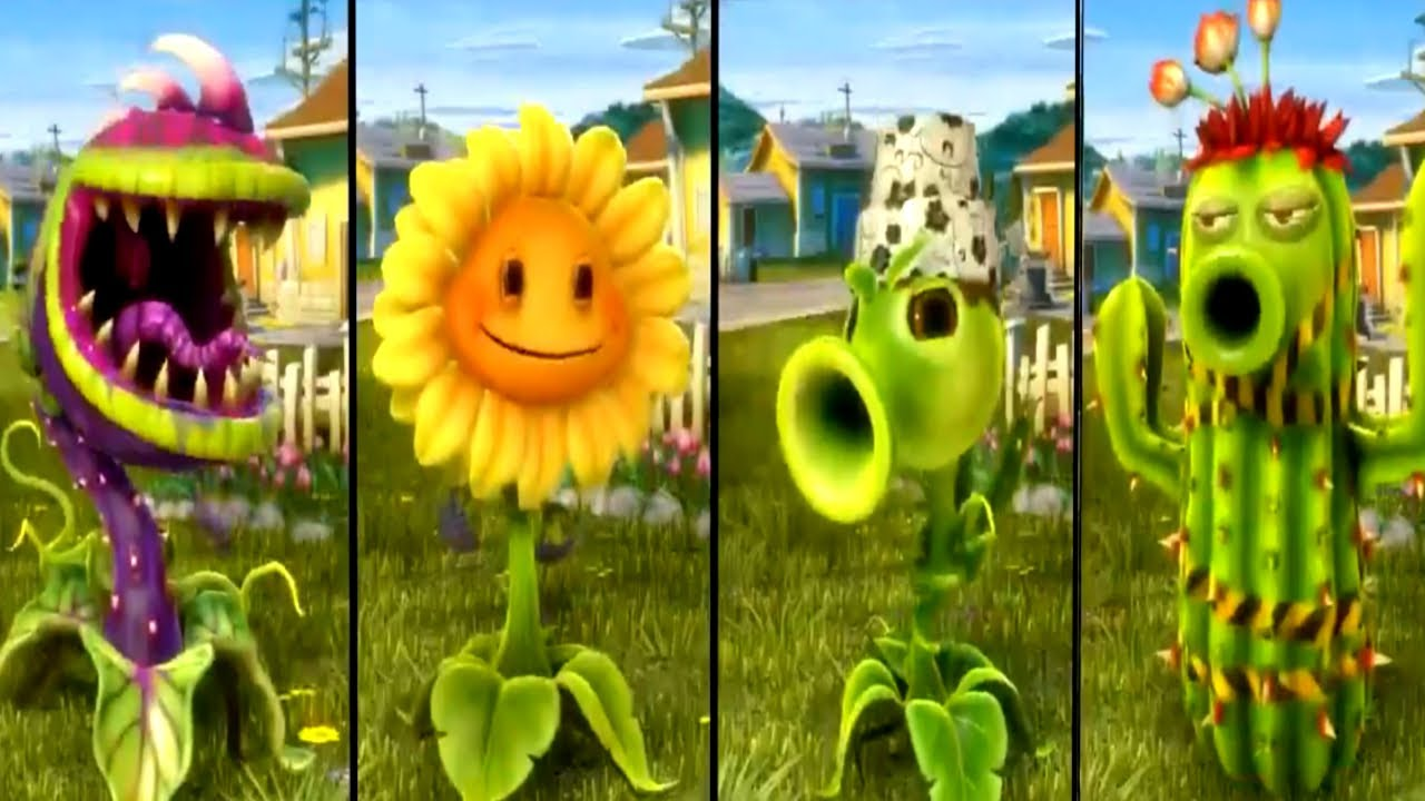 Plants Vs Zombies Garden Warfare All Plants Unlocked All Characters Youtube