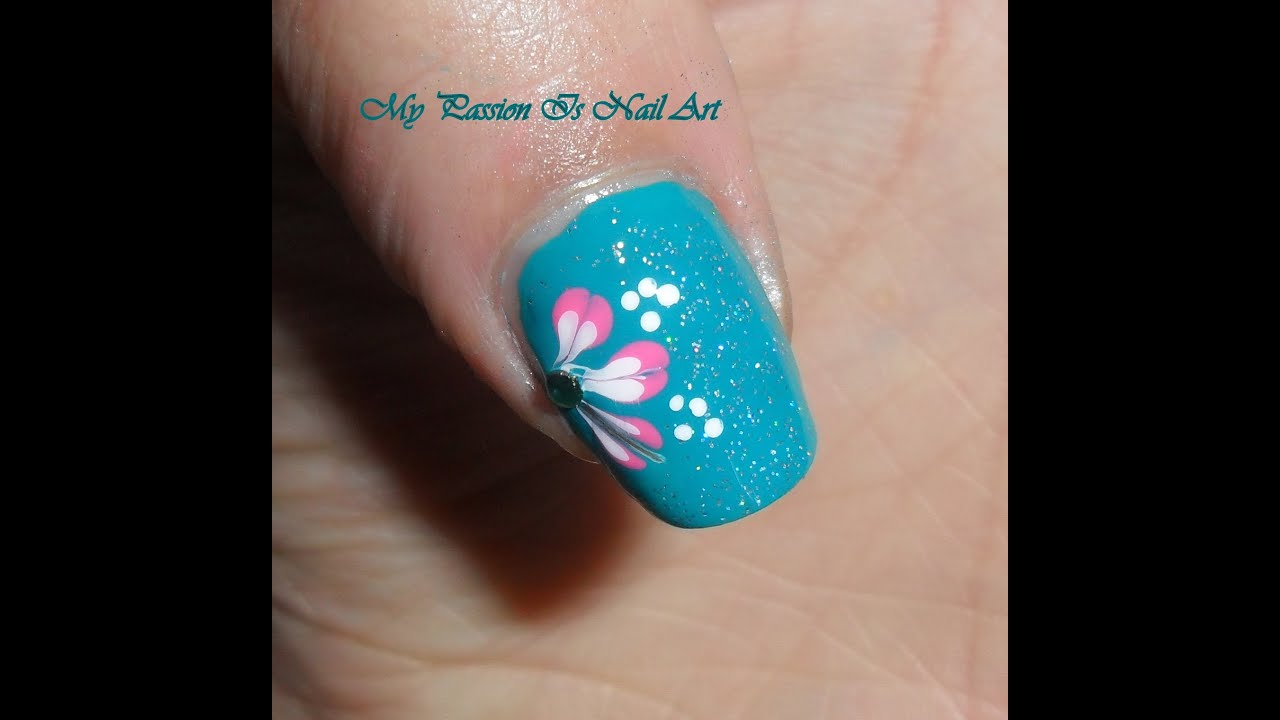 Very Simple Green Nail Art Tutorial- Nail Art Semplice E