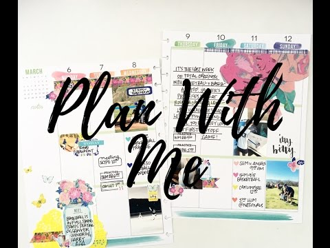 Plan With Me: March 6-12, 2017 {Happy Planner + Planner Society Style}