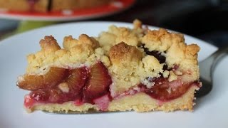 Schneller Pflaumenkuchen mit Streuseln    Simple & Easy Plum Crumble Cake    [ENG SUBS]