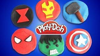 Marvel Play Doh Egg Surprise Black Widow, Iron Man, Hulk, Spiderman, Thor, Captain America