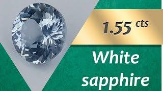 White Sapphire. 1.55 Carats Natural White Sapphire
