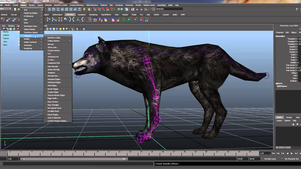 3d All Animal Wallpaper Quadraped Leg Set Up Maya Youtube