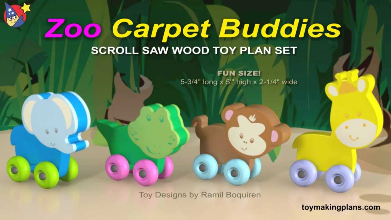 wood toy plans - zoo carpet buddies