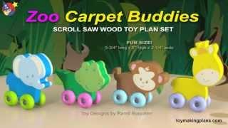 Wood Toy Plans - Zoo Carpet Buddies