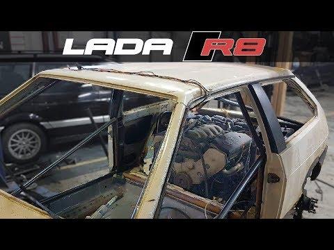 видео: ВАЗ-2108  с мотором V8 от AUDI    //  LADA R8