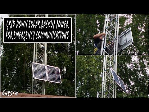 OFF GRID/GRID DOWN Solar Generator for Emergency Ham Radio Communications (Part 1)