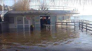 Inondations: Le Lac du Bourget déborde