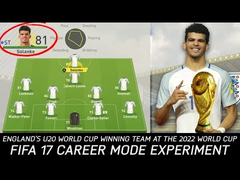 Could England's U20 World Cup Winning Team Achieve Glory at the 2022 World Cup? - FIFA 17 Experiment