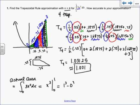 Section 41 AP Calculus: The Trapezoidal Rule - YouTube