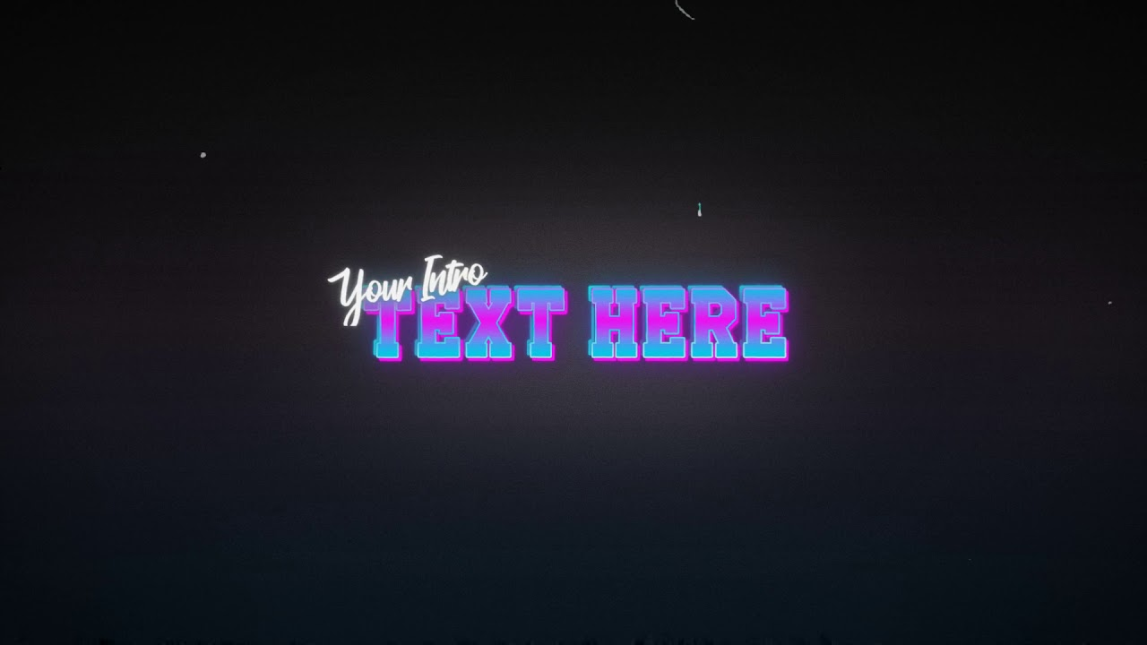 707 - Retro Wave electric Text Title Reveal old style 90s 80s intro