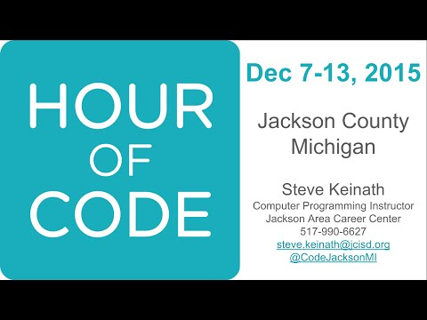 Hour of Code 2015 with Jackson Area Career Center