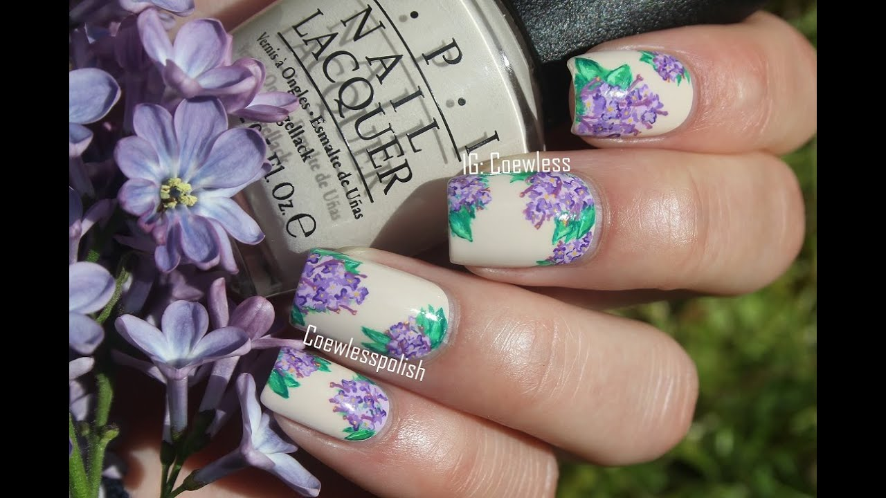 - Lilac Nail Art Tutorial - YouTube