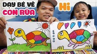 Dạy bé học vẽ con rùa từng bước một rất dễ hiểu
