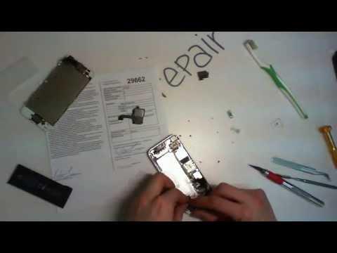 замена разъема зарядки iphone 5 видео